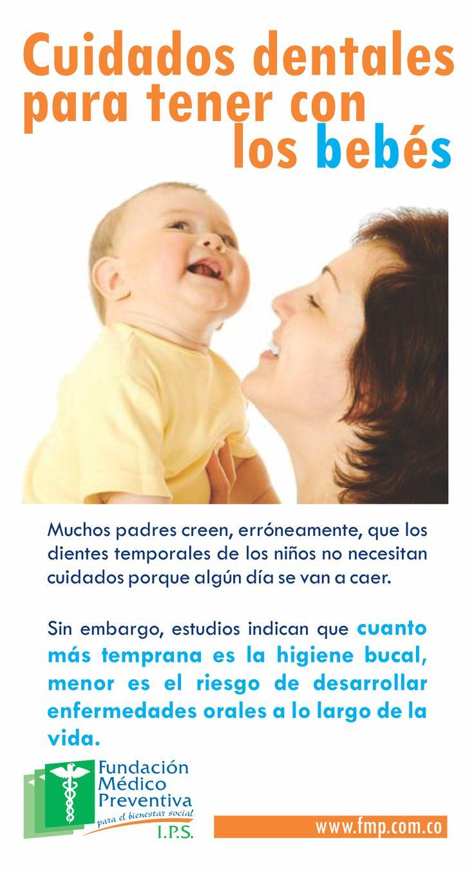 Cuidados dentales para tener con los bebés