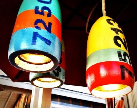 Love these lights for my beach home.  Coastal Decor   Beach Decor   Nautical Decor   Decorating + Craft Blog