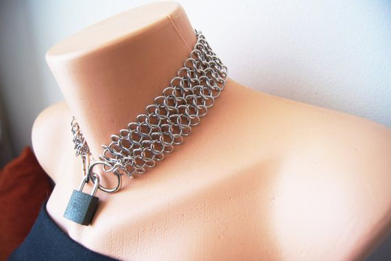 Stainless Steel Chainmail O-Ring Choker Chain Mail by SpunkyOnArt