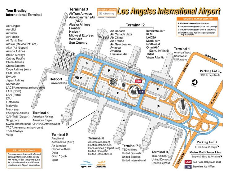 Lax Terminal Map Circa Mid 2000s Map Packing Tips For