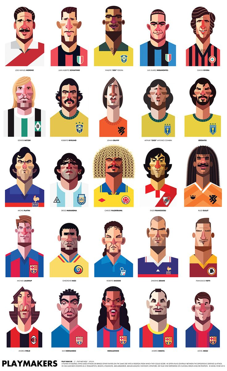 Famous Soccer Players, by illustrator Daniel Nyari