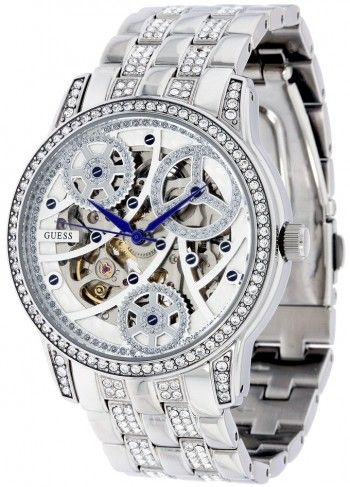 Guess U25004L1 25th Anniversary Automatic Skeleton Watch For Women