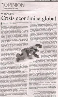 Crisis económica global (texto+audio), por Juan Marcos Tripolone
