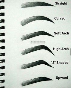 Resultado de imagen para plantillas de cejas perfectas para imprimir