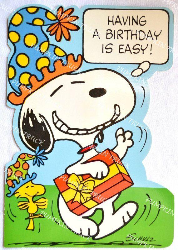 Vintage Snoopy Birthday Card Unused Large Size Snoopy Birthday Snoopy Birthday Quotes Snoopy Birthday Images