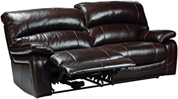 Ashley Furniture Signature Design Damacio Recliner Sofa Power Reclining Dark Brown In 2020 Ashley Furniture Reclining Sofa Leather Reclining Sofa