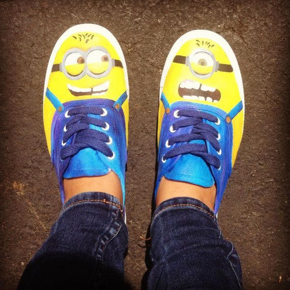 Michelle look what i found on  Etsy!!!!  listing at https://www.etsy.com/listing/163219971/minion-shoes