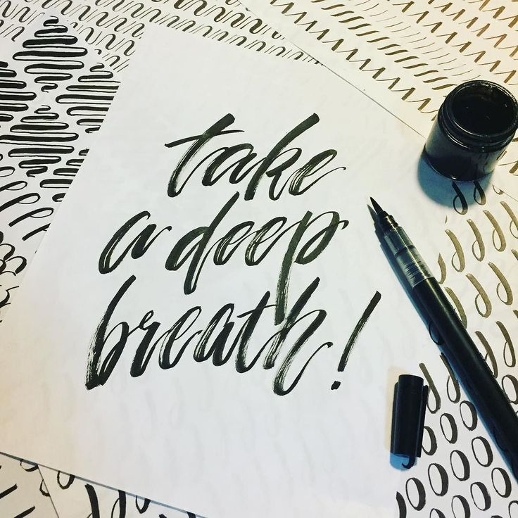When you are overwhelmed by something you can't control just take a deep breath. It will be over one day and you will be okay.  #calligraphy #handlettering #handwriting #brushlettering #brushcalligraphy #lettering #quoteoftheday #showmeyourdrills #inklettering #letteringpractice #letteringdrills #letteringlove @thehappyevercrafter