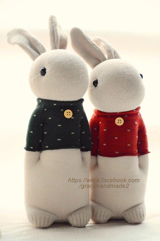 #254 + #255 sock rabbits                                                       …