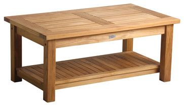 Douglas Nance Classic Coffee Table With Shelf traditional-outdoor-coffee-tables