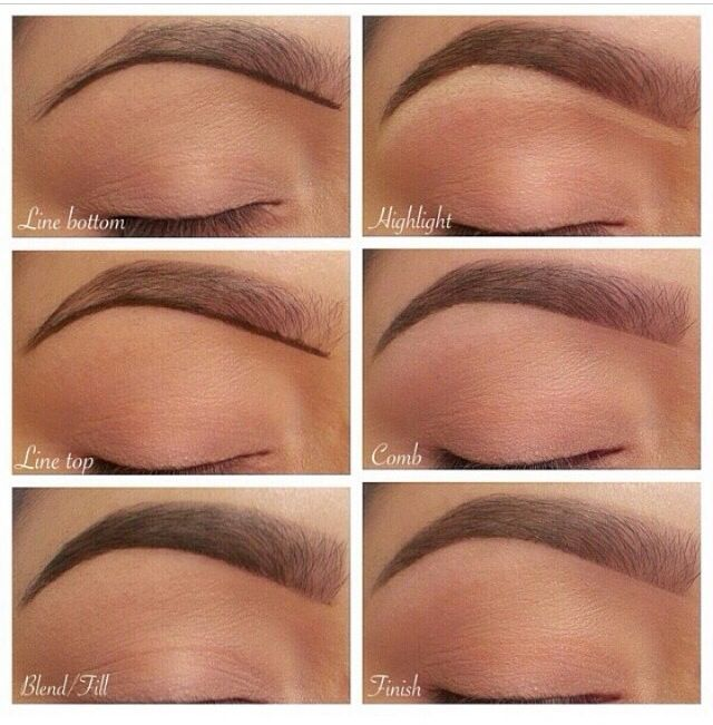 How to fill eyebrows
