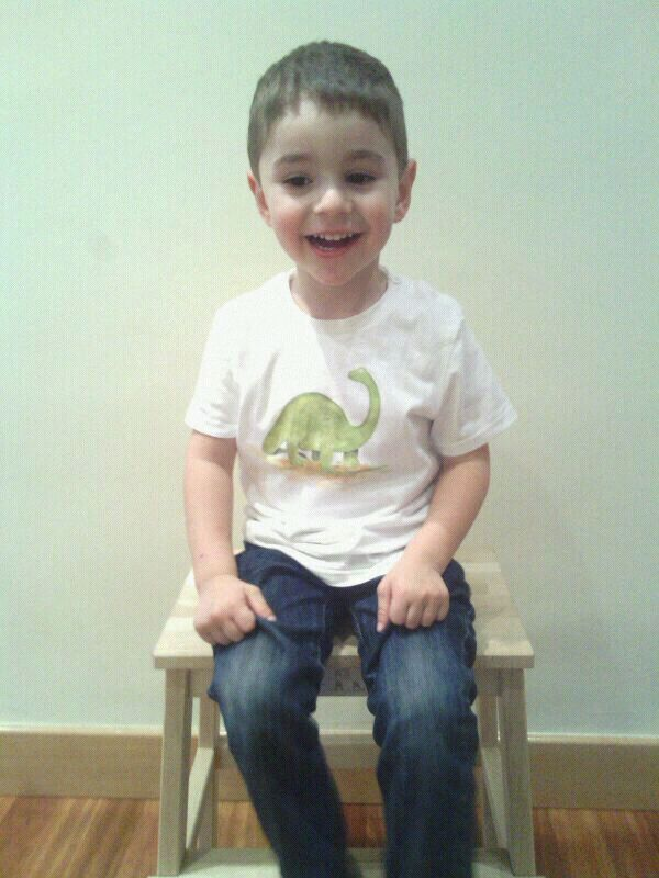 "Super guapo Ekain con la camiseta ""Dinosaurio""!! http://lolitalunakids.files.wordpress.com/2013/10/lolitaluna-camiseta-dinosaurio.jpg"