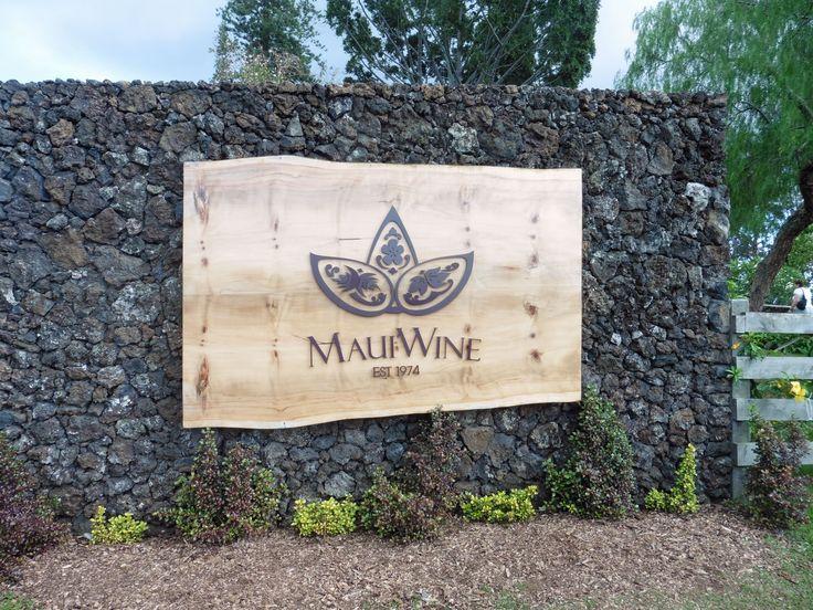 Maui, Hawaii. Maui Wine, Den äldsta och berömdaste vingården på Hawaii.