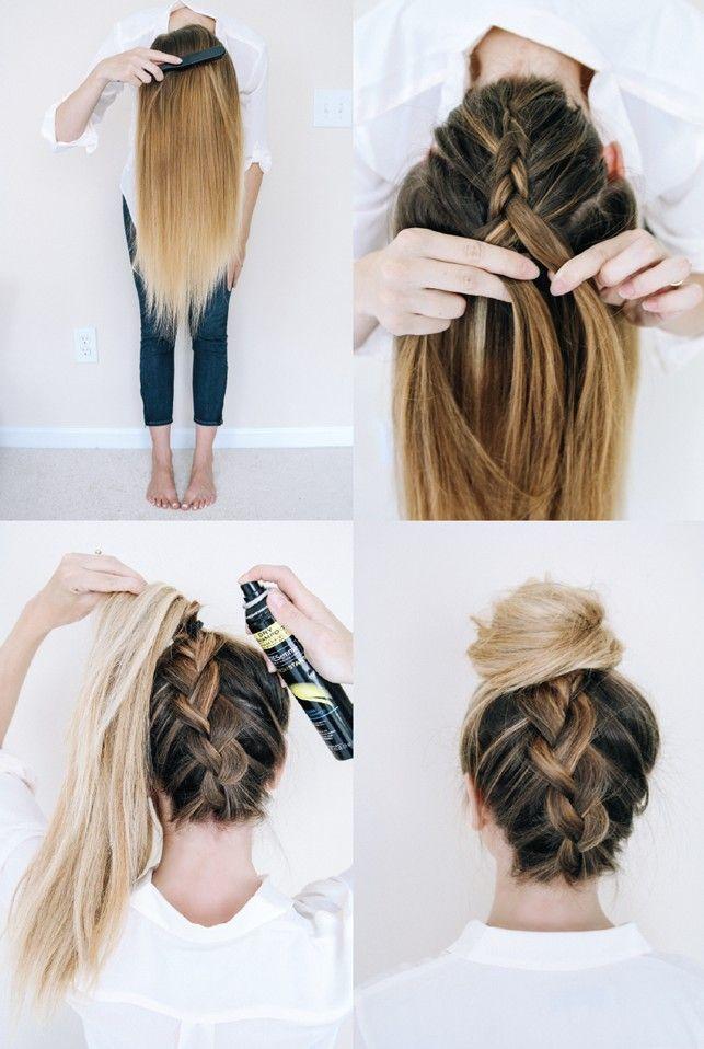 Nice Simple Hairstyles For Long Thick Straight Hair Hairstyles Simple Straight Thick Geflochtene Frisuren Wiesn Frisur Flechtfrisuren