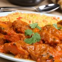 Chicken Vindaloo: A fiery and tangy #chicken curry with a tomato and tamarind gravy from Goa.