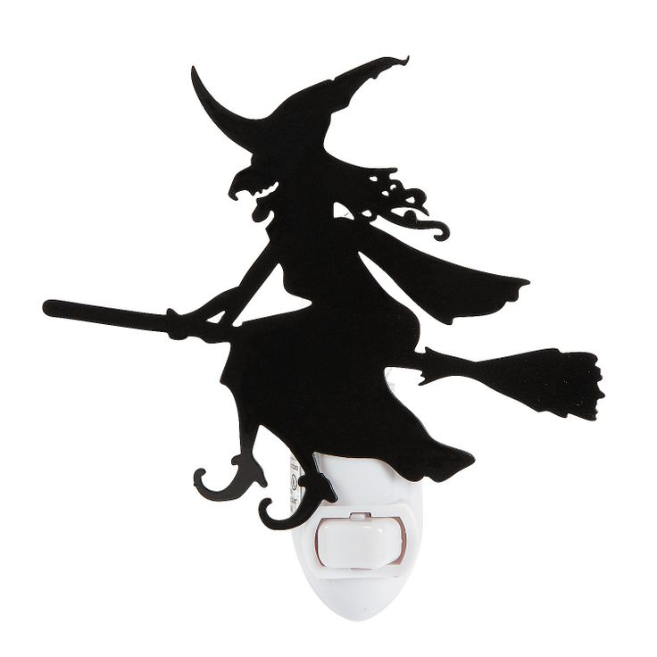 Halloween Silhouette Witch Night Light - TerrysVillage.com