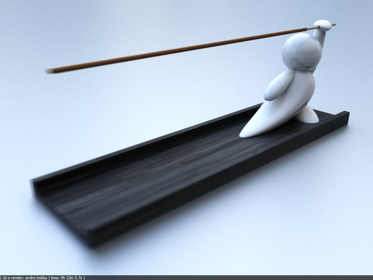 Incense stick holder porta-incenso - 3d by Maca