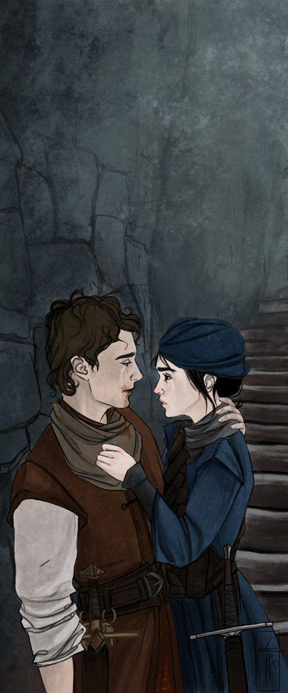 Touchstone And Sabriel From The Abhorsen Trilogy