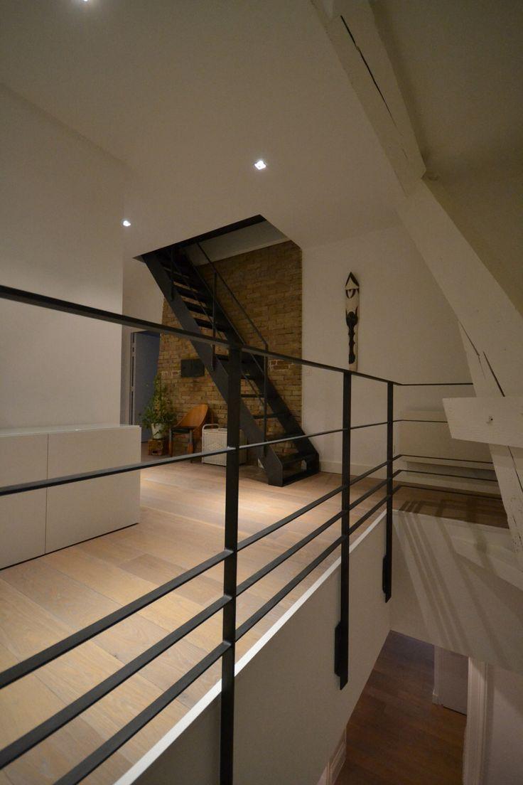 25 beste idee n over trap leuning op pinterest trapleuningen leuning verbouwen en - Mezzanine verlichting ...
