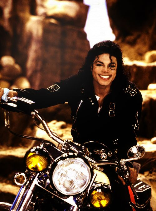 Michael Jackson...there's just something about a guy on a motorcycle!