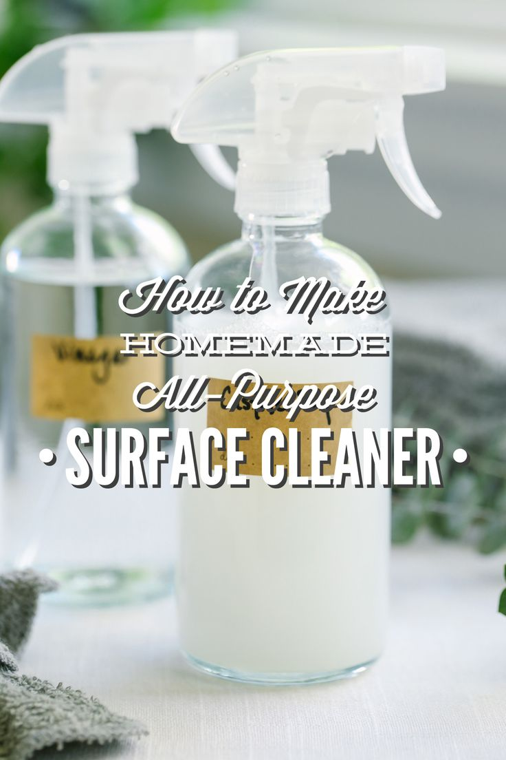 Two super easy homemade cleaner recipes made with basic household ingredients: vinegar, castile soap, water, lemon, or essential oils. Your choice of ingredients.