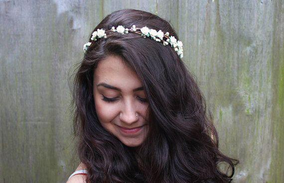 Bridal Flower Crown - Bridal Hair Accessories, Bridal Headband, Floral Crown, Flower Girl Hair Wreath, Weddings, Wedding Headband, Halo on Etsy, $38.00