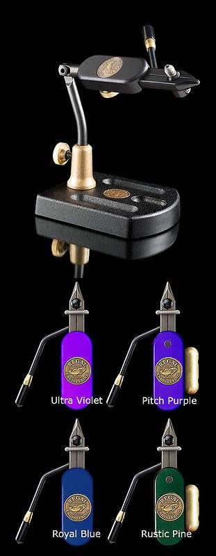 Fly Tying Vises and Tools 44916: Regal Aluminum Base Travel Vise, Pitch Purple Head -> BUY IT NOW ONLY: $225 on eBay!