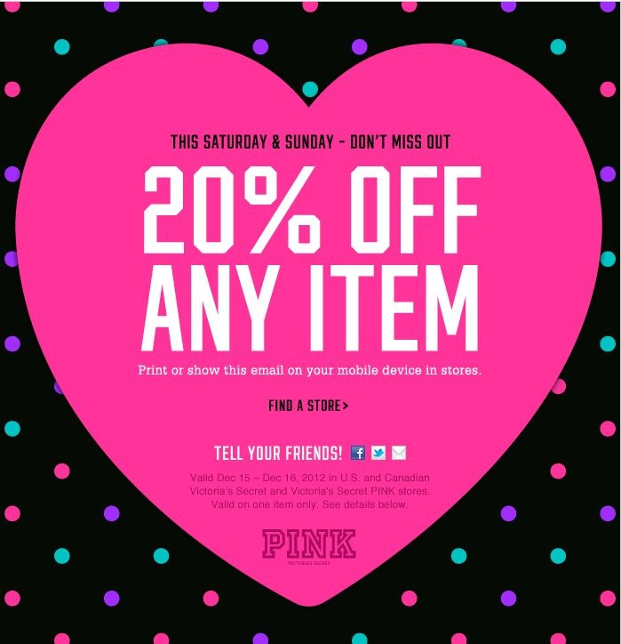 photo about Victoria Secret Coupons Printable named Victoria top secret discount coupons 20 off : 6pm discount coupons codes 2018