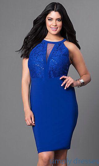 Plus-Size Short Semi-Formal Dress