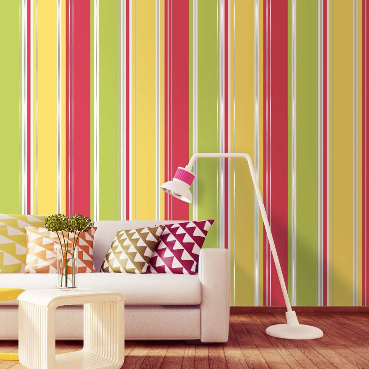 Coloroll Salsa Stripe Wallpaper - Red & Yellow - http://godecorating.co.uk/coloroll-salsa-stripe-wallpaper-red-yellow/