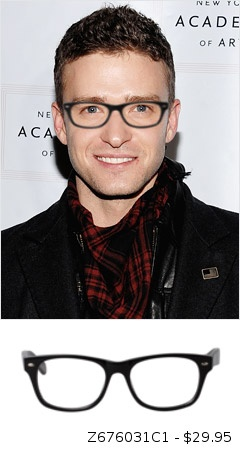 Justin Timberlake with glasses