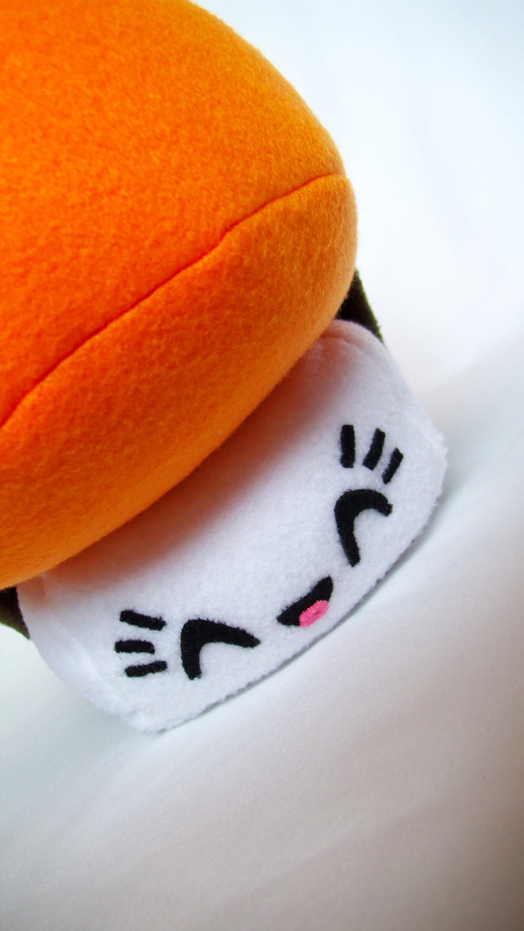 Sishi The Adorable Sashimi Sushi Fleece Plush Toy for Children Kids or Japan lovers. GREAT Valentine Gift.. $40.00, via Etsy.