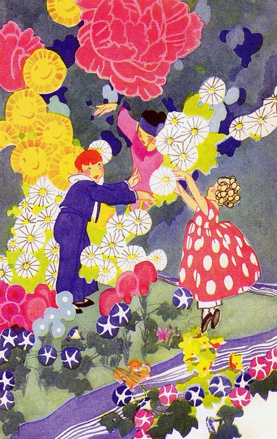 Fields of the Gone Smiles by Rose Red Cottage, via FlickrRickety Rungs, Laura Scott, Janet Laura, Cottage Art Deco, Children Illustration, Storybook Illustration, Smile, 1923, Fields