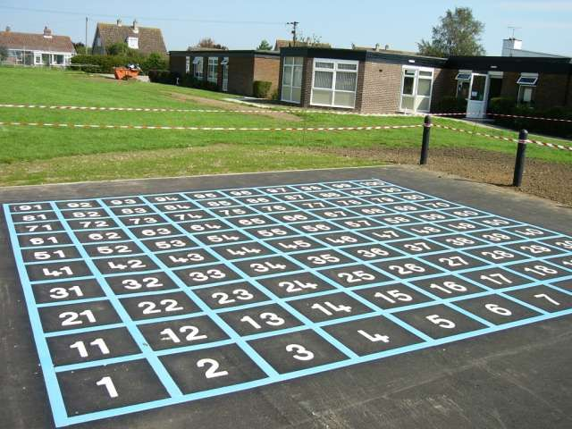 Playground Number Grid-- wonder if we could get someone to paint us one!