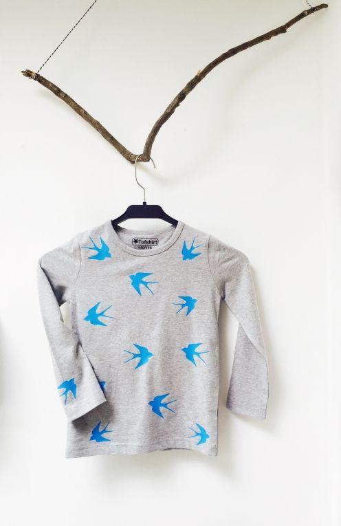 Baby shirt met zwaluwen #tofshirt