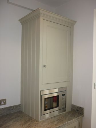 Hand Painted Kitchen in Bristol - Boiler cupboard with microwave