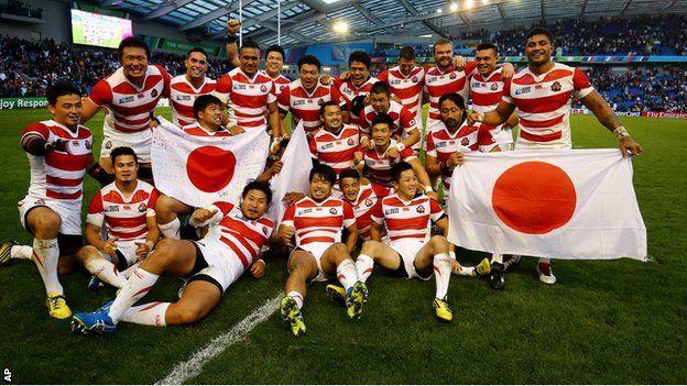 Japan beat South Africa