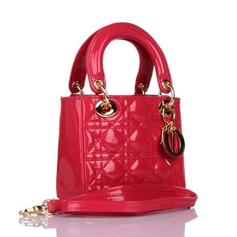 Lady Dior MINI BB Bag With Red Patent Leather Glod Hardware 8042 /DEUYNIXA