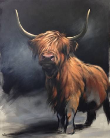 Highland Cow Painting by Aimee Hoover