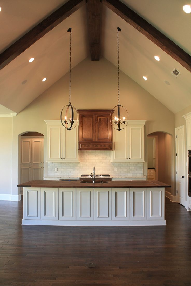 9 best vaulted ceiling lights images on pinterest for Half vaulted ceiling with beams