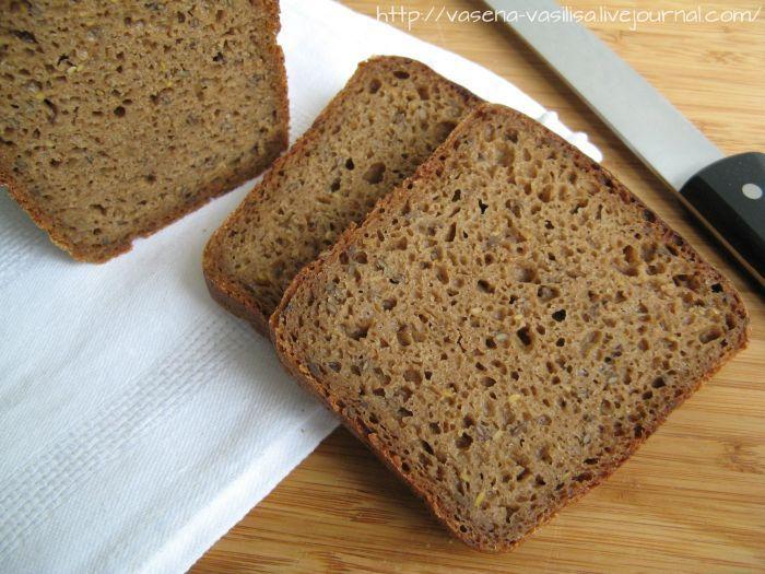 Еще один хлеб занесла в свою копилку рецептов. Рецепт от Сергея registrr здесь , за что ему большое спасибо. Ржаной хлеб с семенами льна на жидкой закваске и опаре. Хлеб…