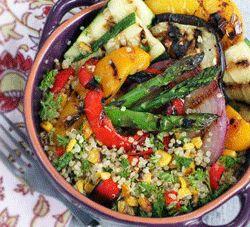Grilled Veggie Quinoa Salad | Food | Pinterest | Goddesses, Quinoa ...