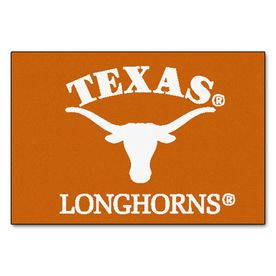 Fanmats University Of Texas Rectangular Indoor Machine-Made Sports Throw Rug (Common: 1-1/2 X 2-1/2; Actual: 1.583-Ft W