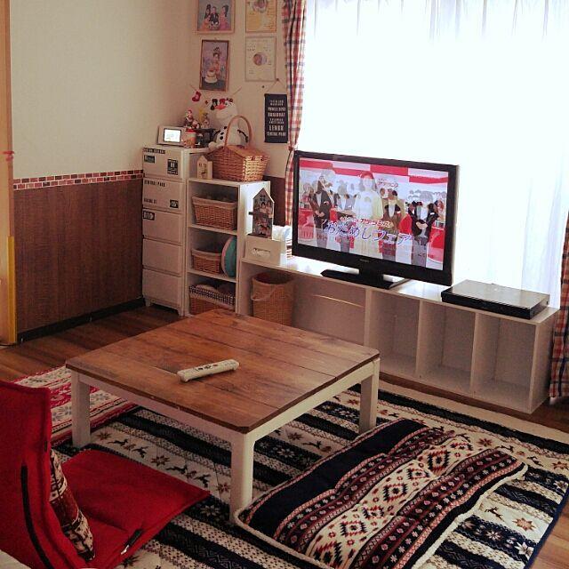 100均×カラーボックス テレビ台のインテリア実例 | RoomClip (ルームクリップ)