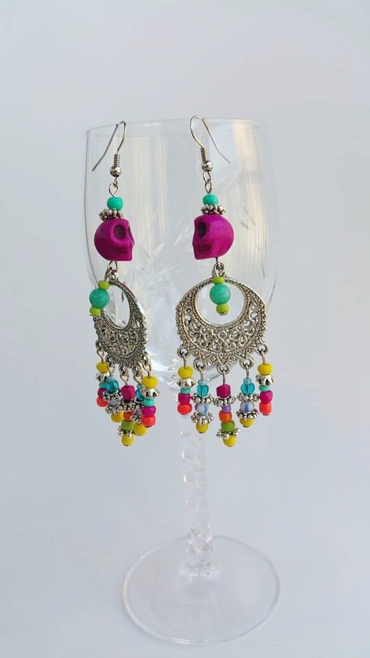 Check out this item in my Etsy shop https://www.etsy.com/pt/listing/239446339/long-beaded-chandelier-earrings-bohemian