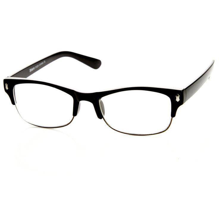 Mens GQ Fashion Eyewear Clear Lens Half Frame Glasses 8844 | zeroUV