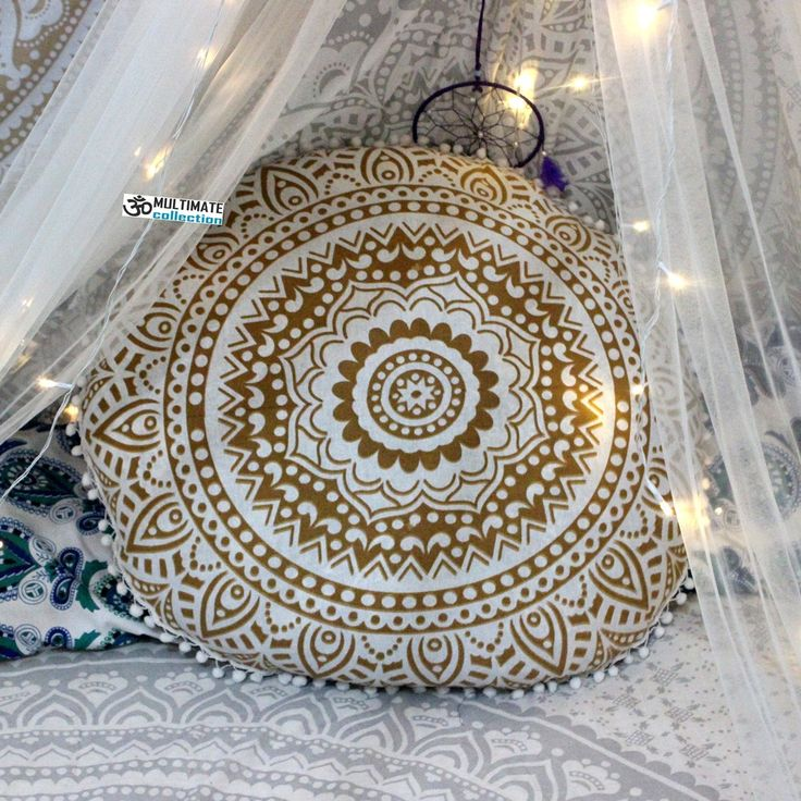 http://multimatecollection.com/white-and-gold-mandala-boho-round-pillow-cover.html