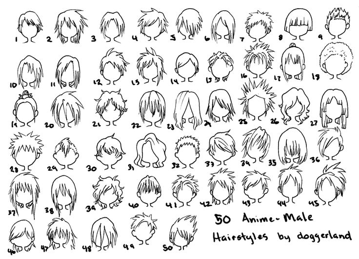 50 Anime-Male Hairstyles by OrangeNuke.deviantart.com on @deviantART - Best 20+ Anime Hairstyles Male Ideas On Pinterest Drawing Hair