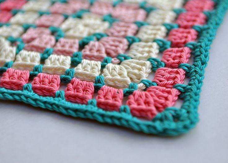 Chocolate Box Square from 200 Crochet Blocks, by Jan Eaton