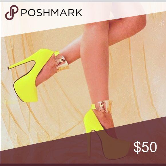 Neon Pumps NEVER WORN!! Neon Pumps Shoes Platforms